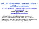 pol 201 homework predictable world pol201homework 14