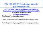 psy 103 assist predictable world psy103assist com 2