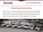 a range of highest quality products