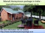 manali honeymoon package in india manalihoneymoonpackage co in