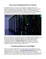 how does dedicated server work