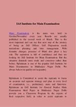 ias institute for main examination
