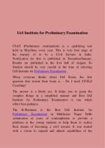 ias institute for preliminary examination
