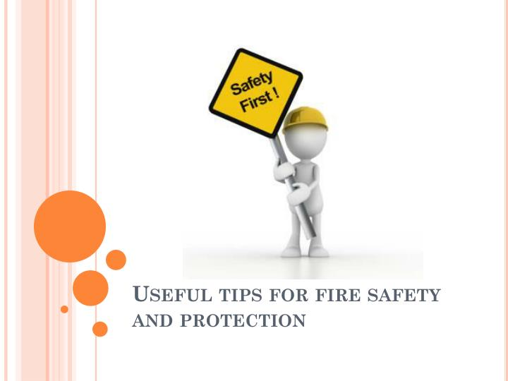 useful tips for fire safety and protection n.