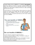 a gastric balloon such as orbera is a completely