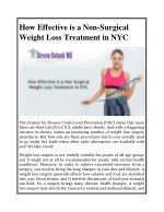 how effective is a non surgical weight loss