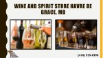 wine and spirit store havre de grace md