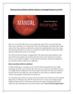 find out the problems and the solutions of mangal
