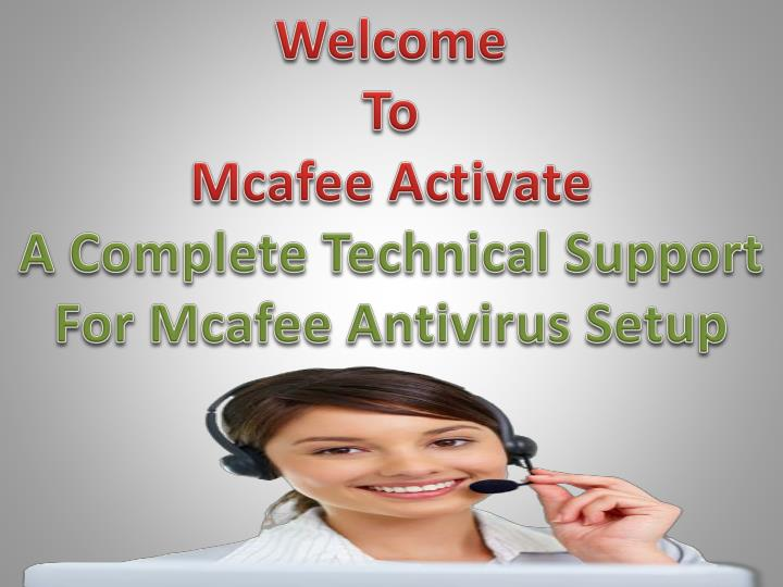 welcome to mcafee activate a complete technical n.