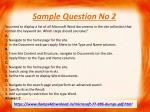 sample question no 2