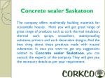 concrete sealer saskatoon