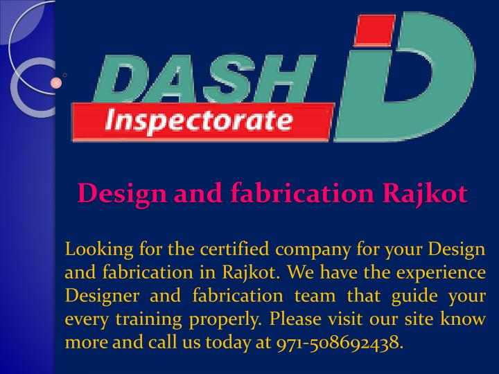 design and fabrication rajkot n.