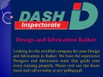 design and fabrication rajkot