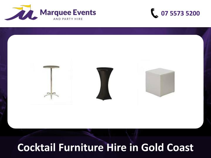 cocktail furniture hire in gold coast n.