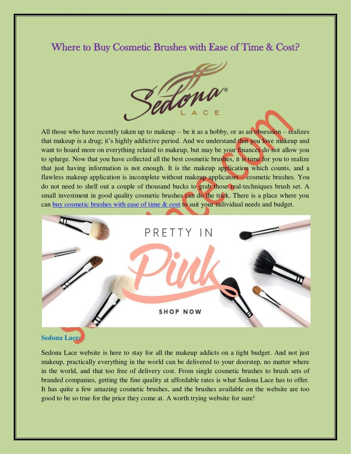where to buy cosmetic brushes with ease of time n.