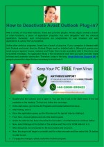 how to deactivate avast outlook plug in