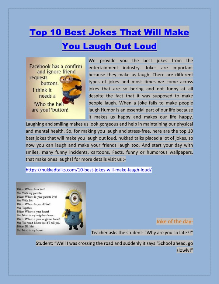 top 10 best jokes that will make you laugh n.