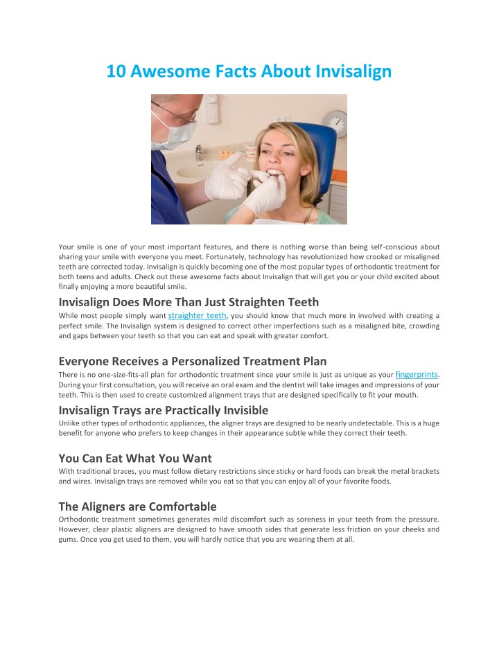 10 awesome facts about invisalign n.