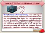 france vps server hosting about
