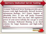 germany dedicated server hosting