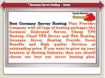 germany server hosting about