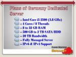plans of germany dedicated server