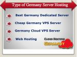 type of germany server hosting
