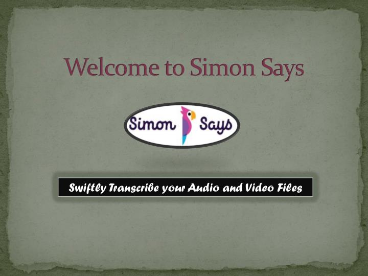 welcome to simon says n.