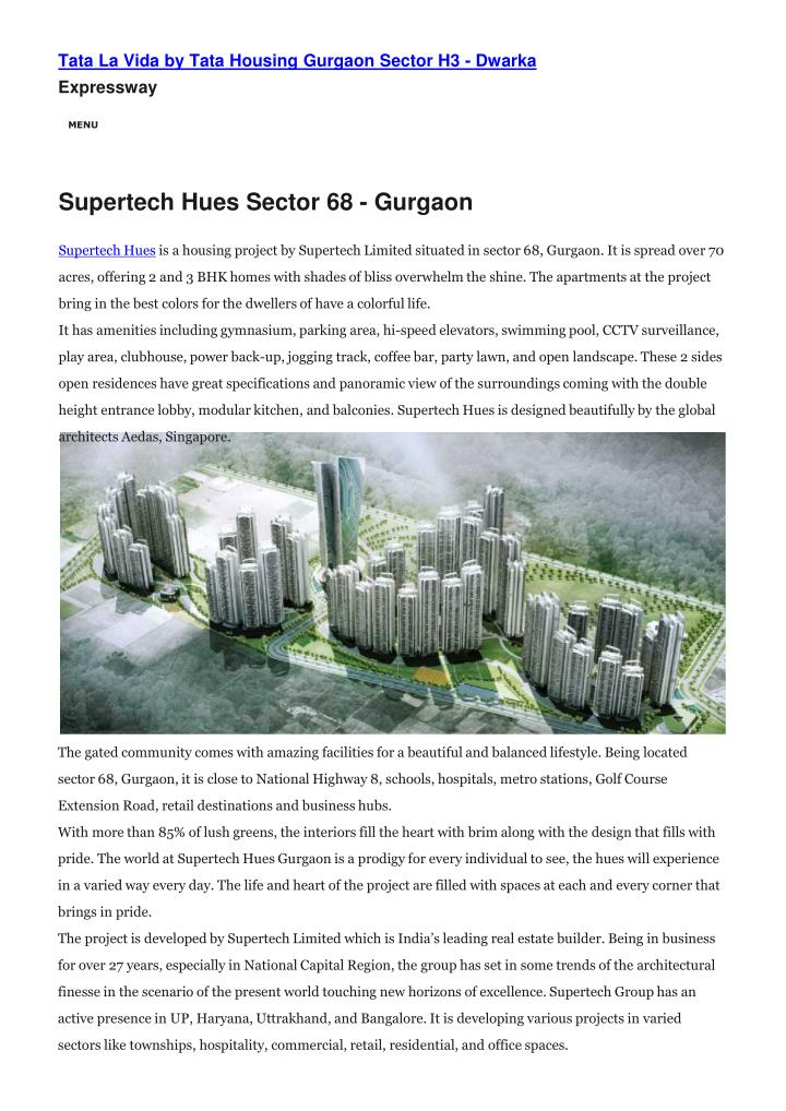 tata la vida by tata housing gurgaon sector n.
