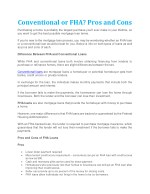 conventional or fha pros and cons