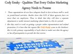 cody emsky qualities that every online marketing agency needs to possess 2