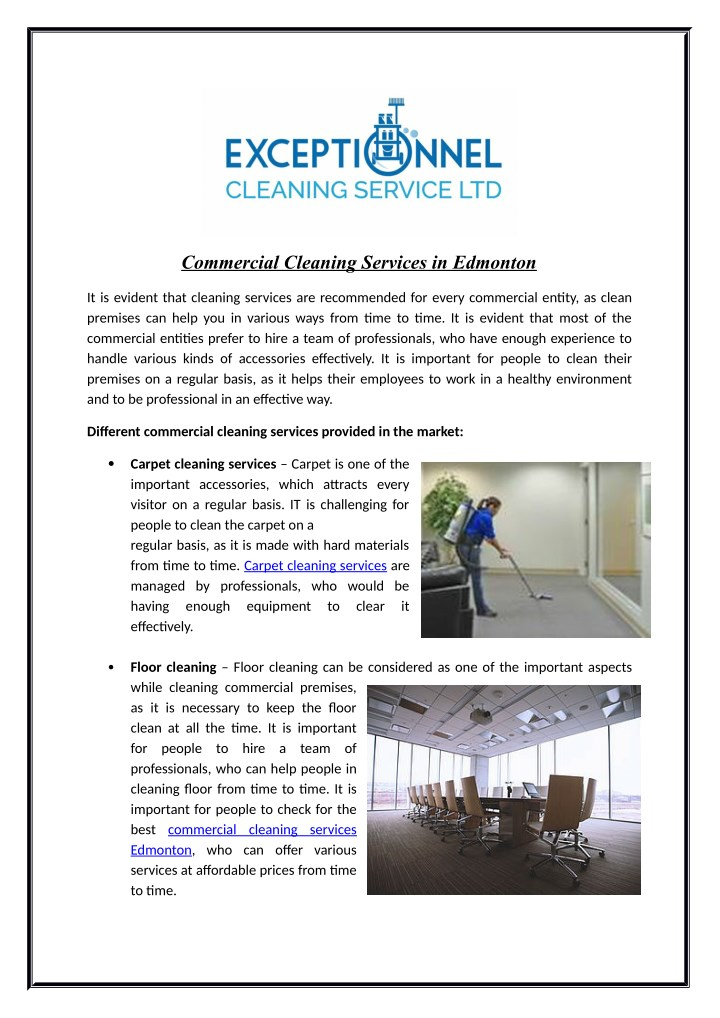 commercial cleaning services in edmonton n.