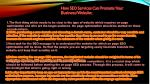 how seo services can promote your business website