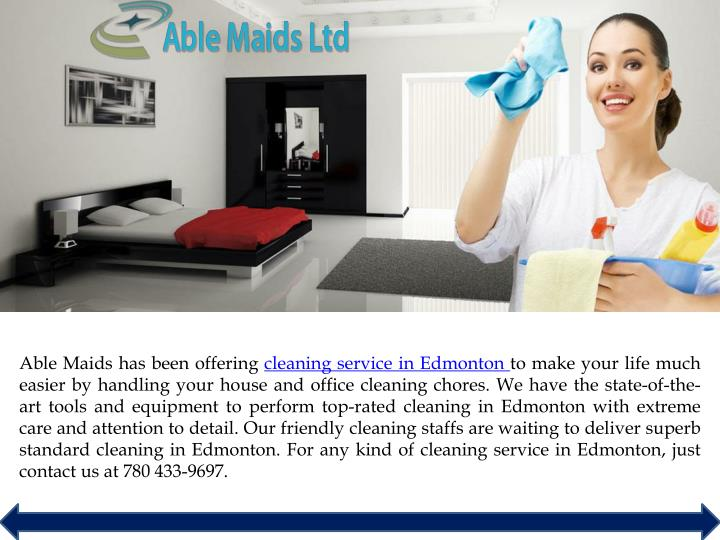 able maids has been offering cleaning service n.