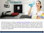 able maids has been offering cleaning service