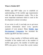 what is mobile rfp mobile app rfp helps