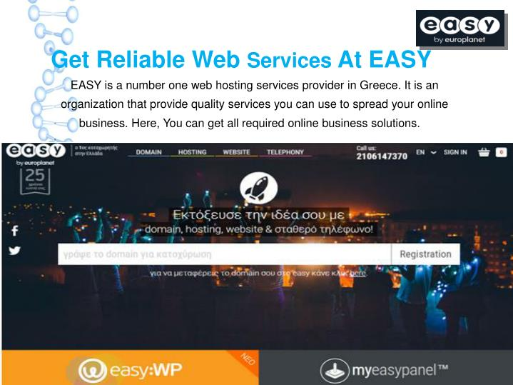 get reliable web services at easy easy n.