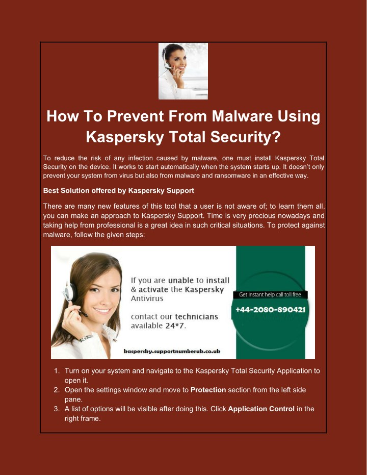 how to prevent from malware using kaspersky total n.