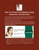 how to prevent from malware using kaspersky total