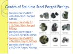 grades of stainless steel forged fittings