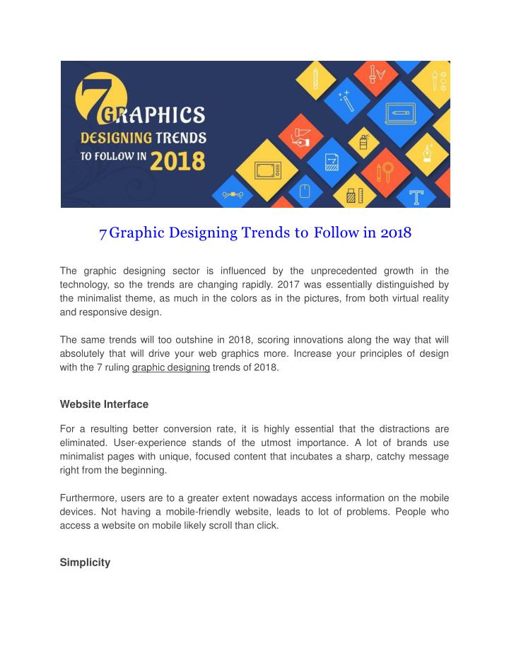 7 graphic designing trends to follow in 2018 n.