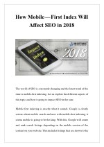 how mobile first index will affect seo in 2018