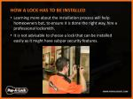 how a lock has to be installed learning more