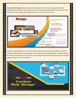 a custom web design provides a unique online