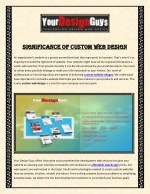 significance of custom web design significance