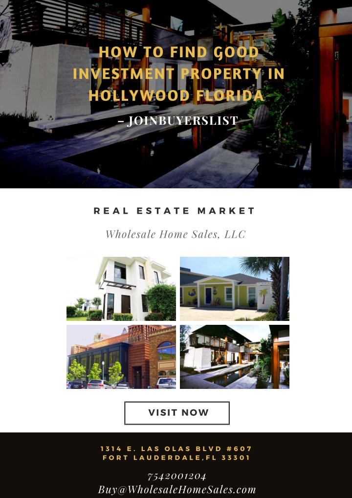 how to find good investment property in hollywood n.