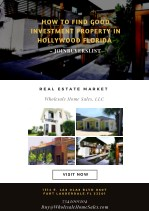how to find good investment property in hollywood