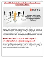 what hr technologies should be there in human