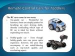 remote control cars for toddlers 1