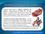 remote control cars for toddlers 4